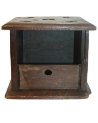 Antique French Country Wood Foot Stove