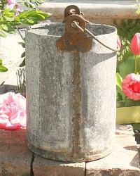 Vintage European Zinc Bucket