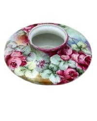 Antique Hand Painted French Porcelain Rose Vase