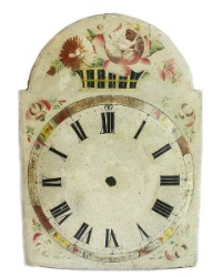 Antique Hand Painted Large Floral Clock Face