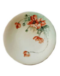 Antique Limoges Hand Painted Plate Art Nouveau Poppies