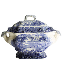 English Ironstone Blue and White Bedford Large Soup Tureen