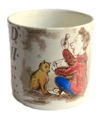 Antique Child's Alphabet ABC Mug Nursery Jack Horner