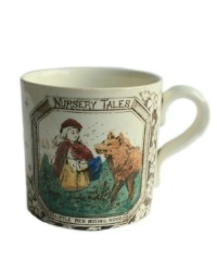 Antique Child's Alphabet ABC Mug Nursery Tales Red Riding Hood