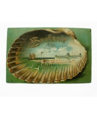 Antique Souvenir Ocean Postcard Unused
