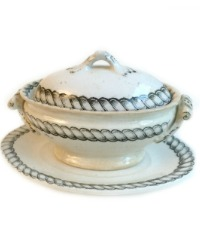 Antique Miniature Pearlware Toy Tureen