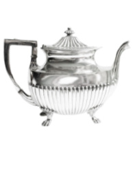 Antique Silver Plated Footed Tea Pot