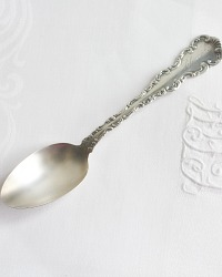 Antique Sterling Silver Five O'clock Spoon French Scrolls
