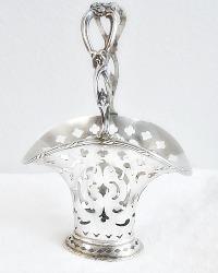 1900's Tiffany Sterling Silver Openwork Brides Basket