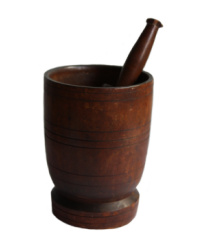 Antique Treen Mortar and Pestle
