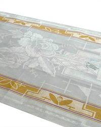 Antique Damask Linen Towel Cream Art Deco Rose