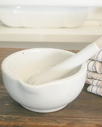 Vintage Ironstone Mortar and Pestle