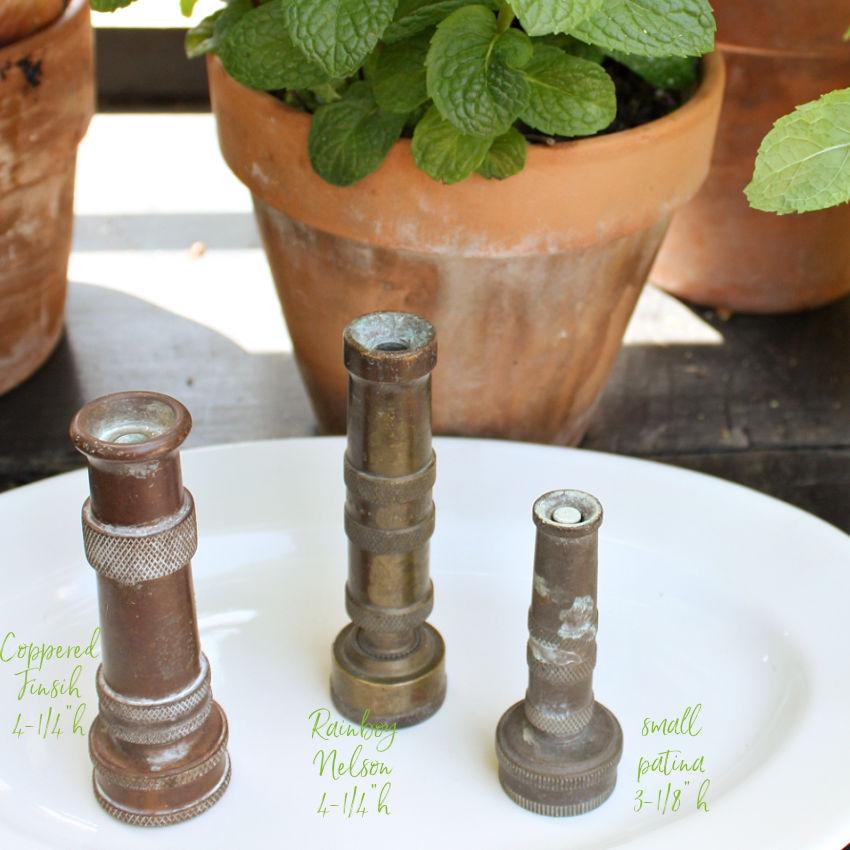 Vintage Garden Hose Watering Nozzle Brass