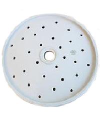 Antique White Ironstone Round Platter Drainer Victoria