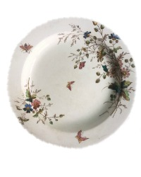 19th Century Floribel Polychrome Ironstone Serving Plate