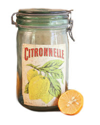 Vintage French Canning Jar Citronnelle