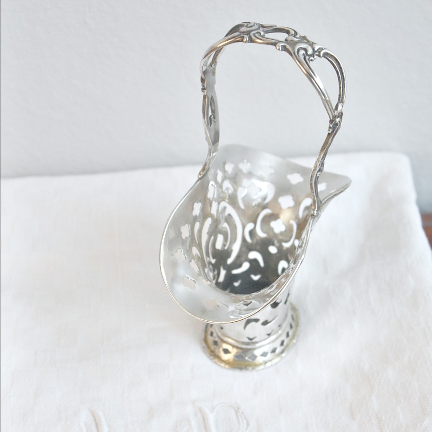 Antique Tiffany Sterling Silver Openwork Bonbon Basket