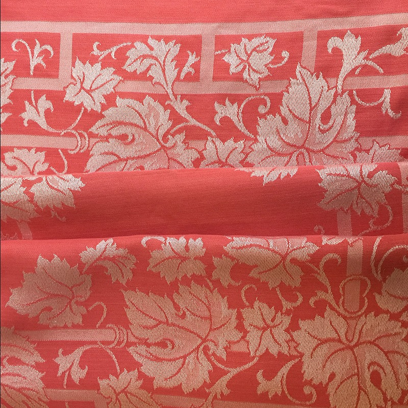Antique Turkey Red Tablecloth Grape Leaf