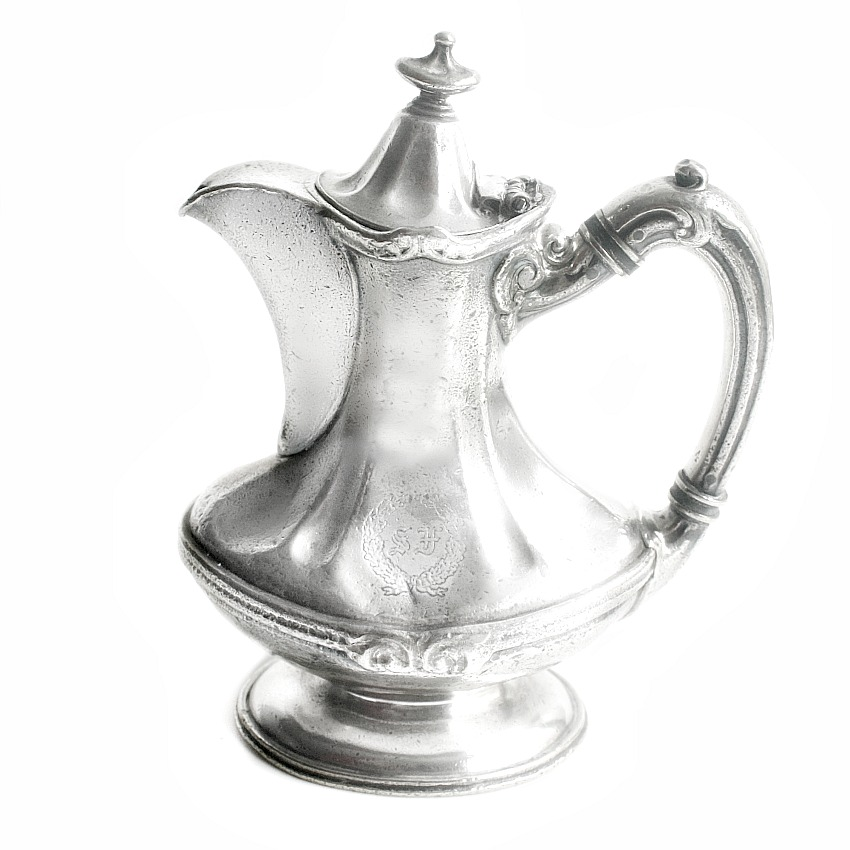 Antique Victorian Hotel Silver Coffee Pot St. Francis