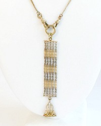 Antique Edwardian Gold Vest Fob Y Necklace H G L
