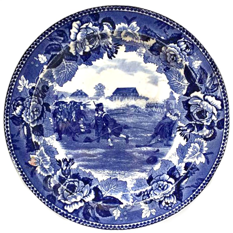 Antique Wedgwood Cobalt Blue Transfer Printed Plate