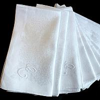 Vintage Irish Linen Damask Napkins Monogrammed E Set of 12