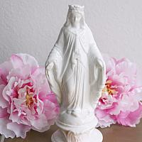 Antique 19th Century French White Porcelain Madonna