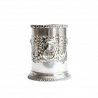 English Silver Plate Wine Bottle Holder with Regency Lion Handles