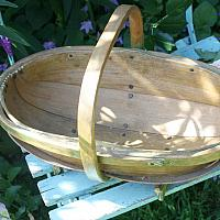 Antique Garden Trug With Remnants of Green Paint