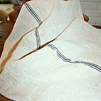 19th Century French Hand Woven Heavy Linen Grain Sack