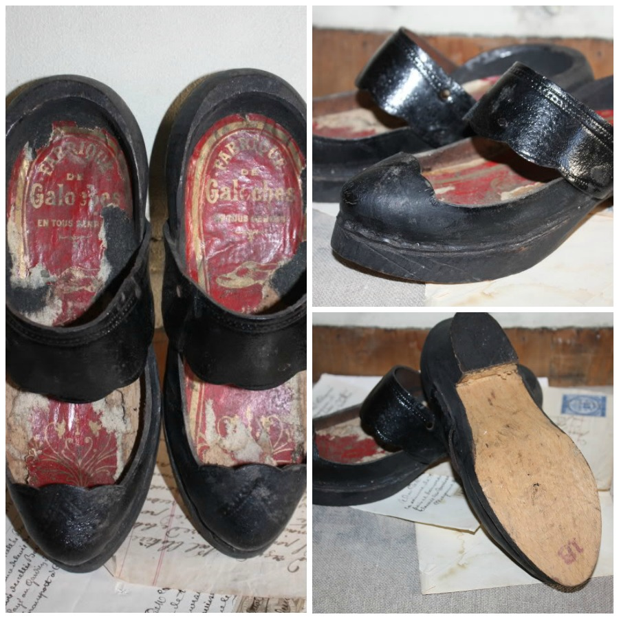 Antique French Basque Country Child's Wooden Shoes