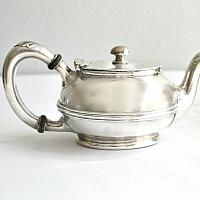 Antique Westholme Hotel Silver Individual Teapot