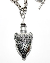 Catherine Popesco French Floral Perfume Bottle Necklace