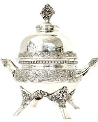 Antique Victorian Quadruple Plated Silver Covered Butter Dish