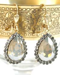 Gold Parisian Diamant Crystal Teardrop Earrings