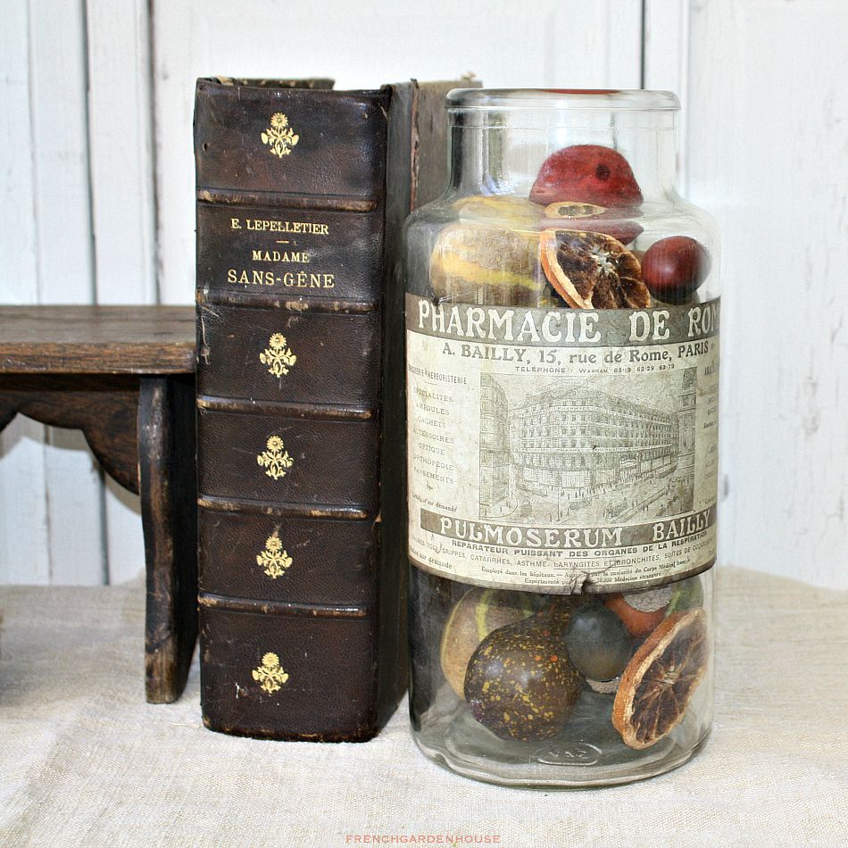 Antique French Glass Apothecary Jar Paris