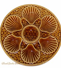 Antique French Oyster Plate Longchamps