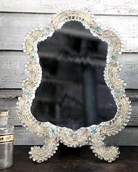 Antique Venetian Murano Vanity Boudoir Mirror