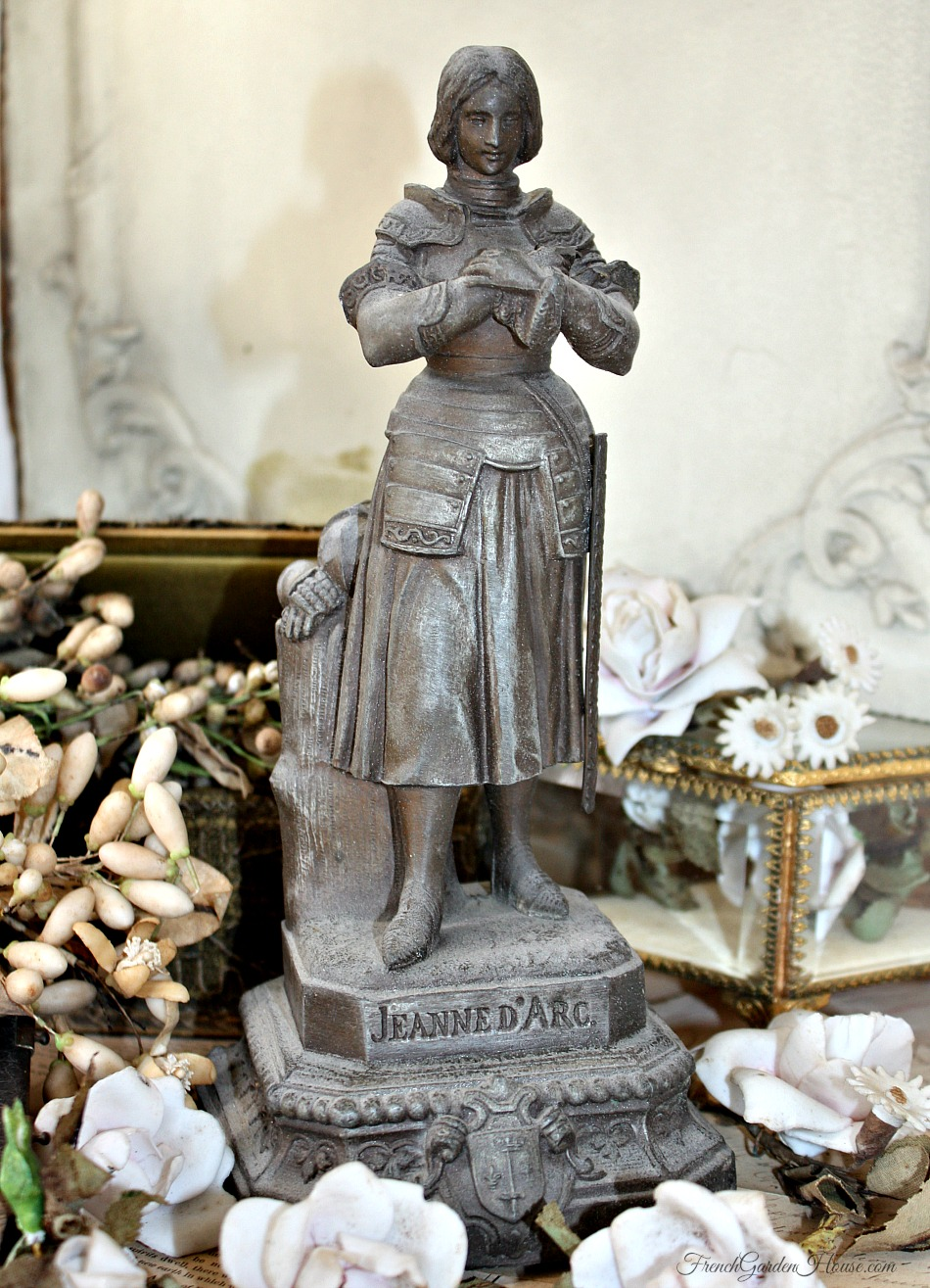Antique French Religious Statue Joan Of Arc