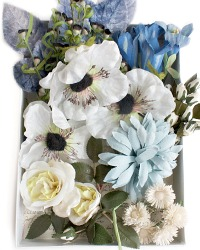 Vintage Millinery Flowers Inspiration Box Blue