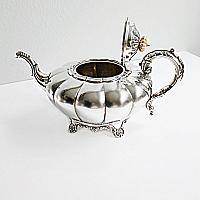 Antique English Silver Plate Tea Set by Charles Howard Collins