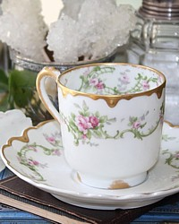 Antique French Haviland Limoges Chocolate Cup Demitasse