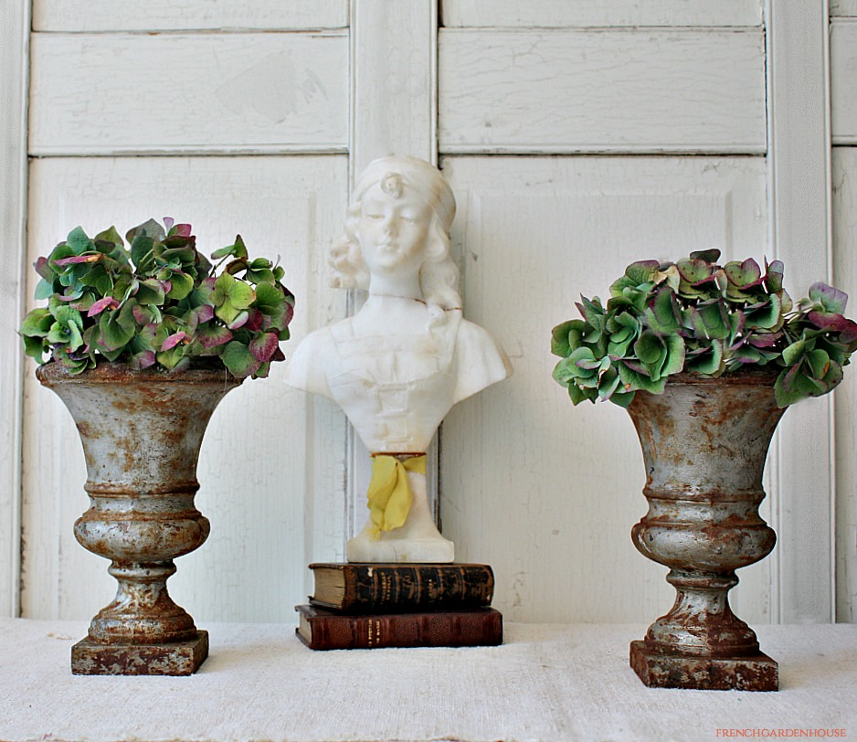 19th Century French Cast Iron Garden Plant Urn Pair