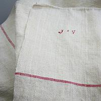 19th Century Hand Woven French Spa Towel Table Throw