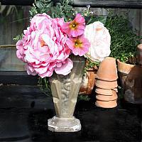 Antique French Cast Iron Art Deco Floral Urn Cafe