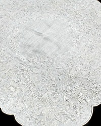 Antique Appenzell Embroidered Swiss Linen Wedding Bridal Handkerchief #6