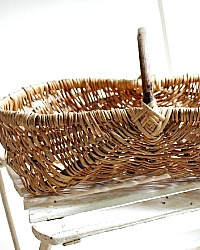 Antique French Harvest Gathering Basket