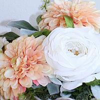 French Apricot Champagne Garden Arrangement