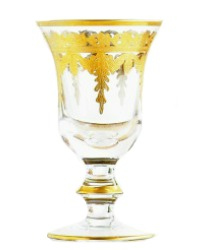 Arte Italica Vetro Gold Wine Glass