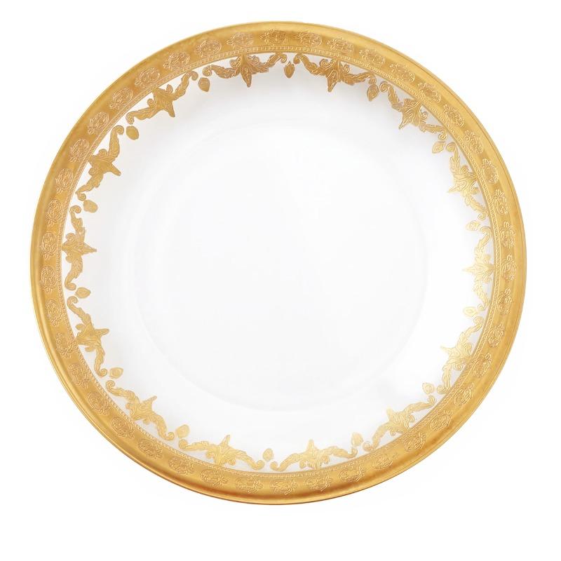 Arte Italica Vetro Gold Dinner Plate